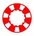 red casino poker chip vector image vector image