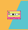retro cassette tape on duotone background vector image