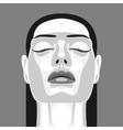 retro portrait vampire woman in noir style vector image