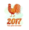 rooster symbol 2017 on the vector image vector image