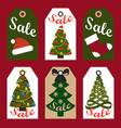 sale new year set of cards on vector image vector image