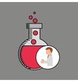 scientist worker research bulb test tube vector image vector image