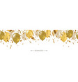 seamless banner with balloons and confetti vector image