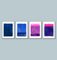 set abstract hand painted for vector image