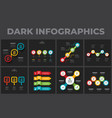 set dark infographic templates circles vector image
