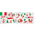 set national flag italy in vector image