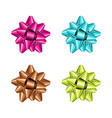 set of color holiday bow on white background vector image