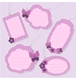 Set of cute purple tags vector image vector image