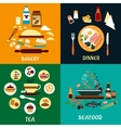 Set of flat food infographics vector image vector image