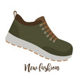 shoes with text new fashion vector image vector image