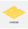 sliced cheese icon isometric style vector image vector image
