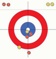 sport of curling stones on ice vector image vector image