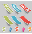 sticker tags vector image vector image