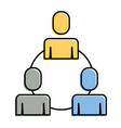 teamwork business people connection cooperation vector image vector image