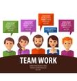 teamwork logo design template business vector image vector image