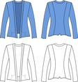 Template outline of a woman jacket vector image vector image