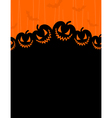 terrible pumpkins on an orange background a vector image vector image
