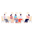 therapy support group addiction group female vector image vector image