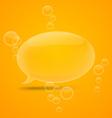 Transparent speech bubbles vector image