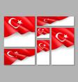 turkey republic patriotic festive banners set vector image vector image