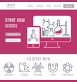 website banner and landing page science vector image vector image