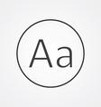 typography outline symbol dark on white background vector image