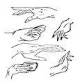 hands manual graphics simple vector image