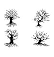 halloween trees vector image