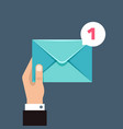 receiving message concept with envelope in vector image
