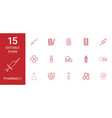 15 pharmacy icons vector image vector image
