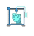 3D bio-printers with human head vector image