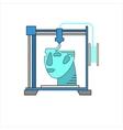 3D bio-printers with human head vector image vector image