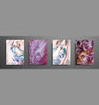 abstract painting can be used as a trendy vector image vector image