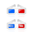 Anaglyphic 3D glasses vector image