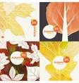 Autumnal Background Set vector image vector image