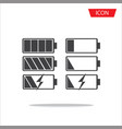 battery iconbattery icon set isolated on vector image