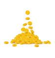 bitcoin treasure heap vector image vector image