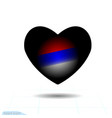 black heart for valentine s day russia vector image