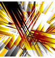 black white orange radial lines abstract vector image vector image