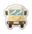 bus school isolated icon vector image