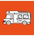camping vehicle design vector image vector image