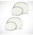 checkered speech bubbles vector image vector image