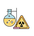 chemistry hazard sign test tube laboratory vector image vector image