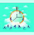chronometer timer with businessmen vector image vector image