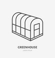 cold frame flat line icon glass greenhouse sign vector image vector image