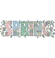 colorful spring lettering vector image vector image