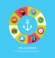 concept hello summer vector image