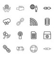 connection icons vector image vector image