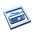 credit cards icon vector image vector image