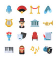 culture symbols masks and others theatre icon set vector image vector image